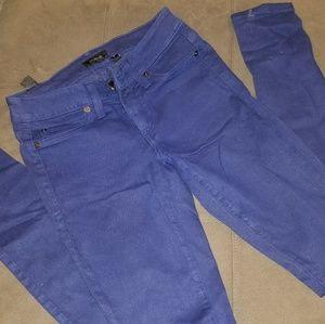 Bebe blue skinny jeggings